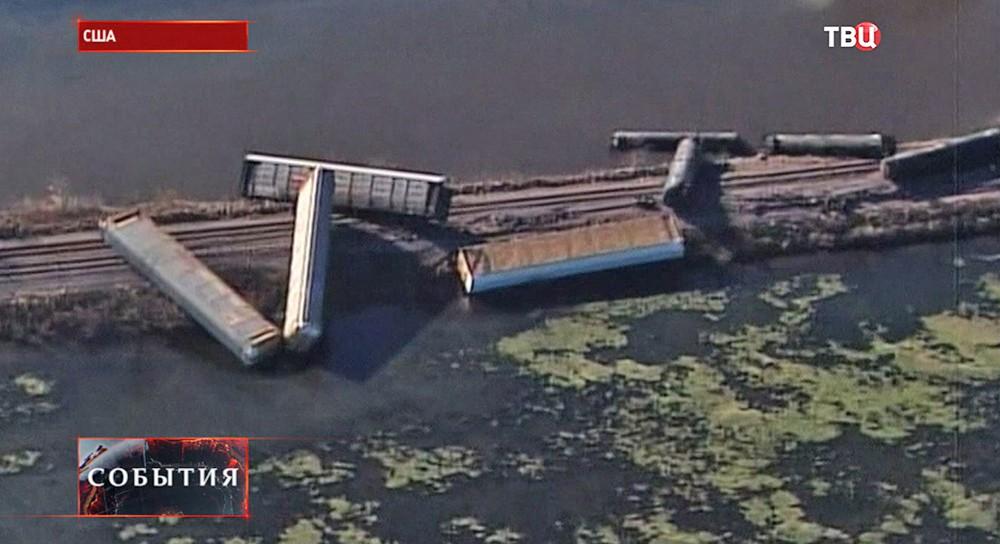 Железнодорожная авария в США