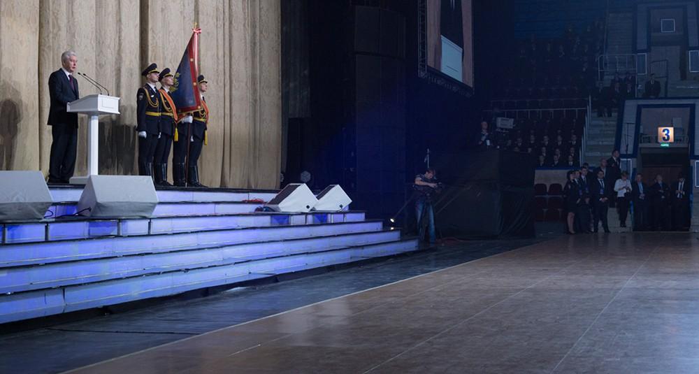 """Сергей Собянин на праздничном концерте в ГЦКЗ """"Россия"""""""