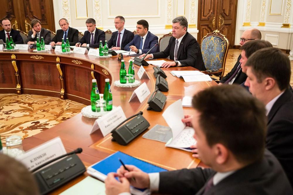 Президент Украины Пётр Порошенко на заседании парламента