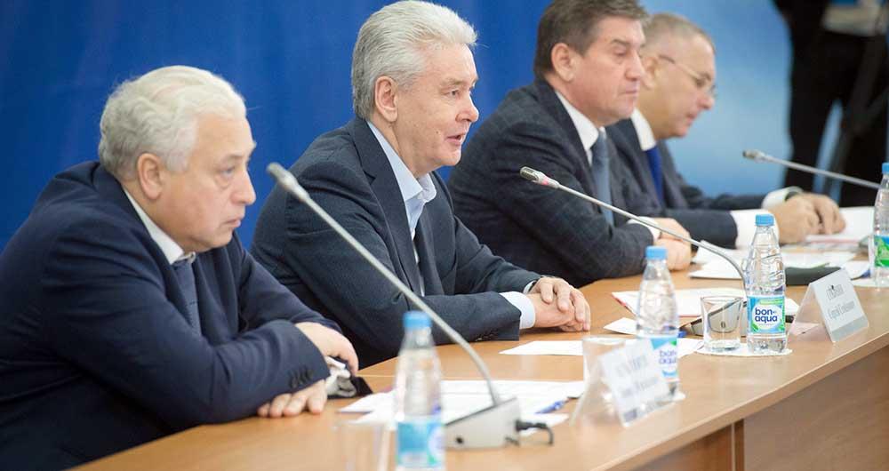 Леонид Печатников, Сергей Собянин и Владимир Петросян