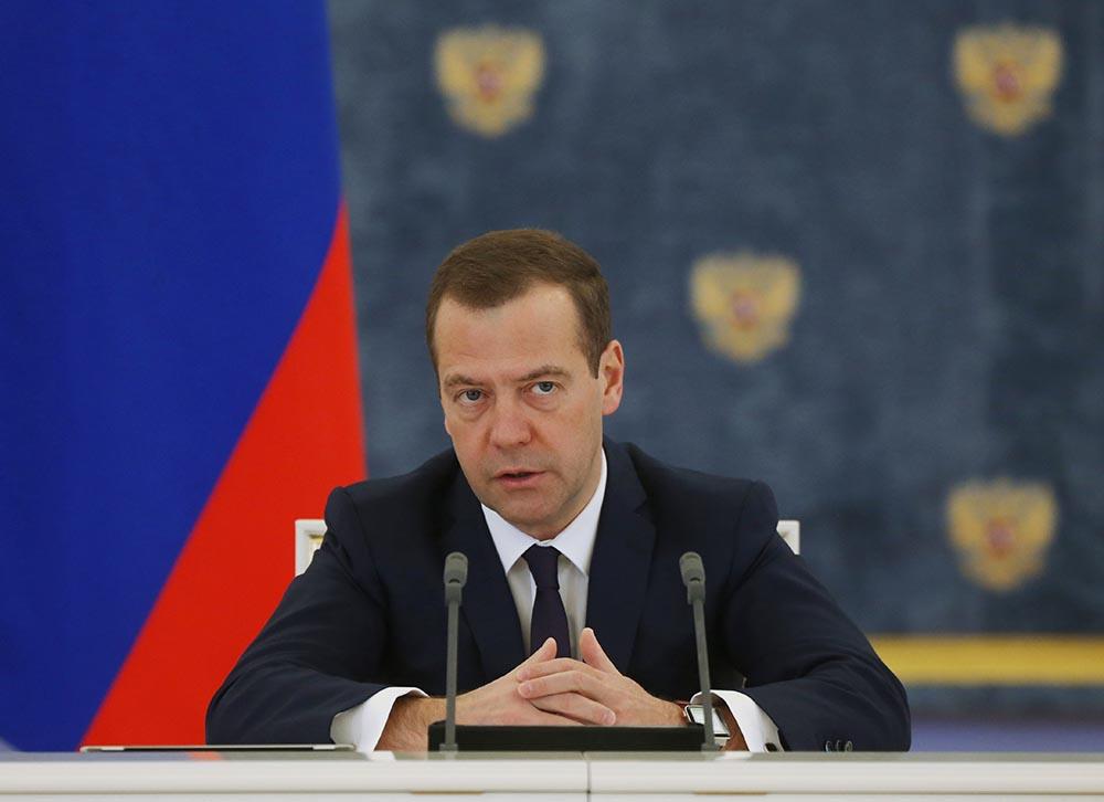 Председатель правительства России Дмитрий Медведев проводит заседание правительства РФ