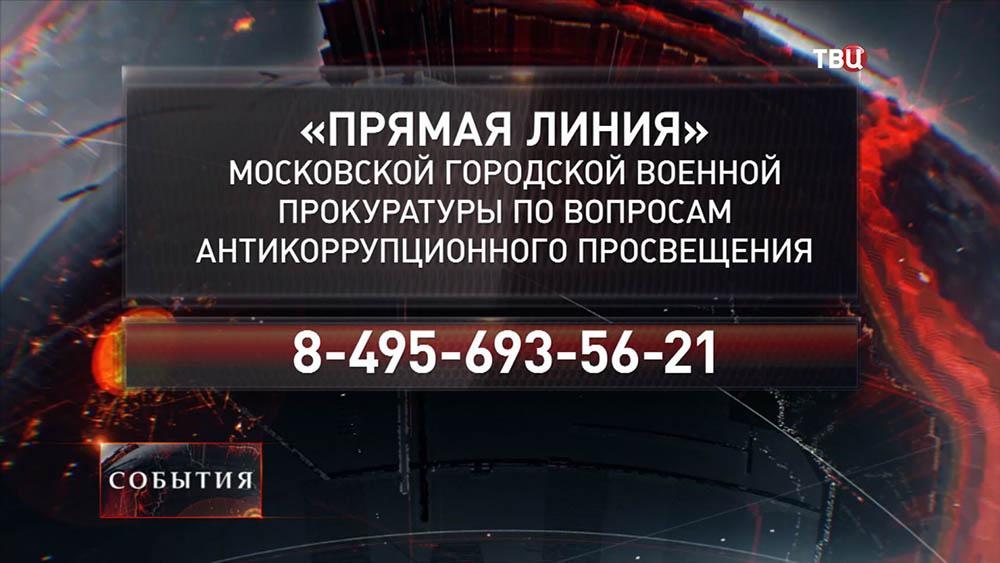 Телефоны Московской военной прокуратуры