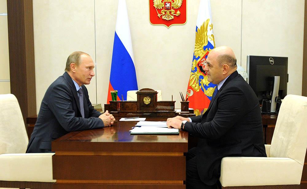 Владимир Путин на встрече с руководителем Федеральной налоговой службы Михаилом Мишустиным