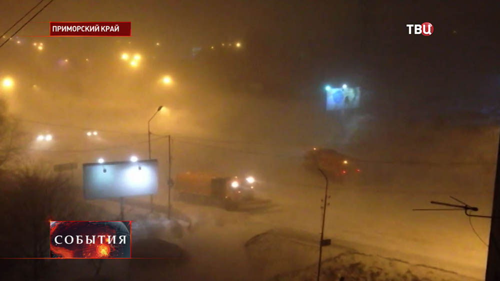 Ураганный ветер в Приморье