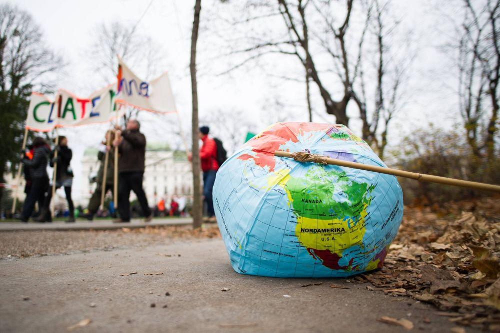 Демонстрация в защиту климата Земли