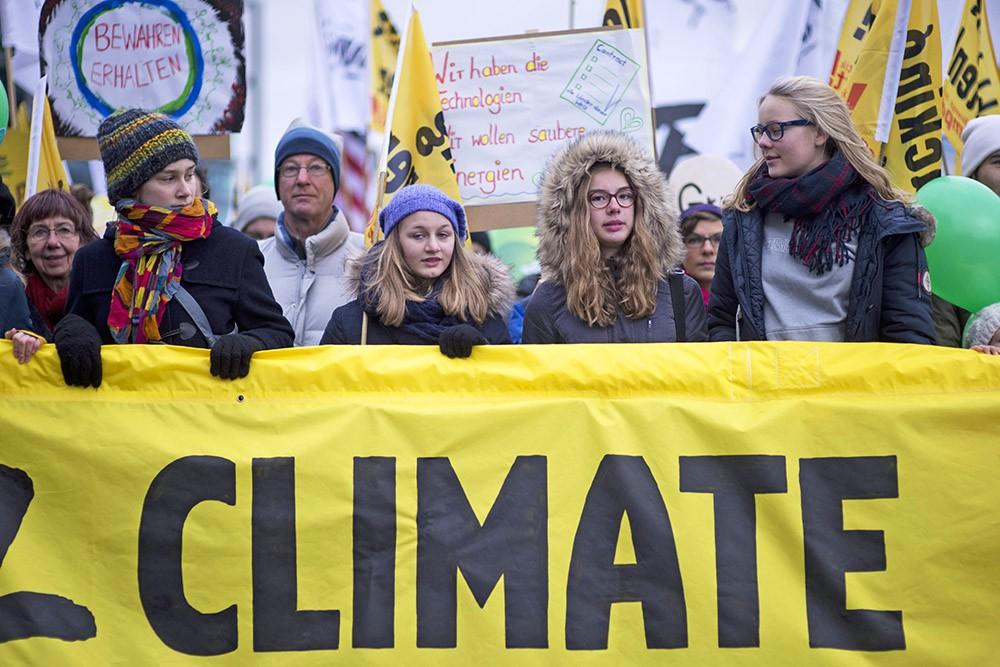 Марш за климатическую справедливость накануне Парижской конференции по изменению климата