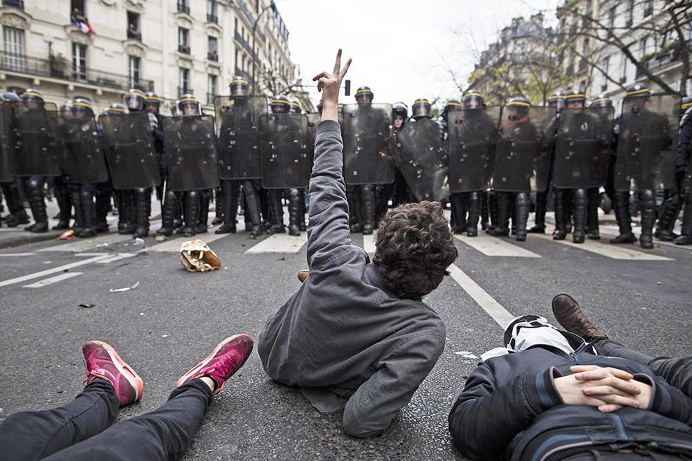 Митинг за климатическую справедливость накануне Парижской конференции по изменению климата