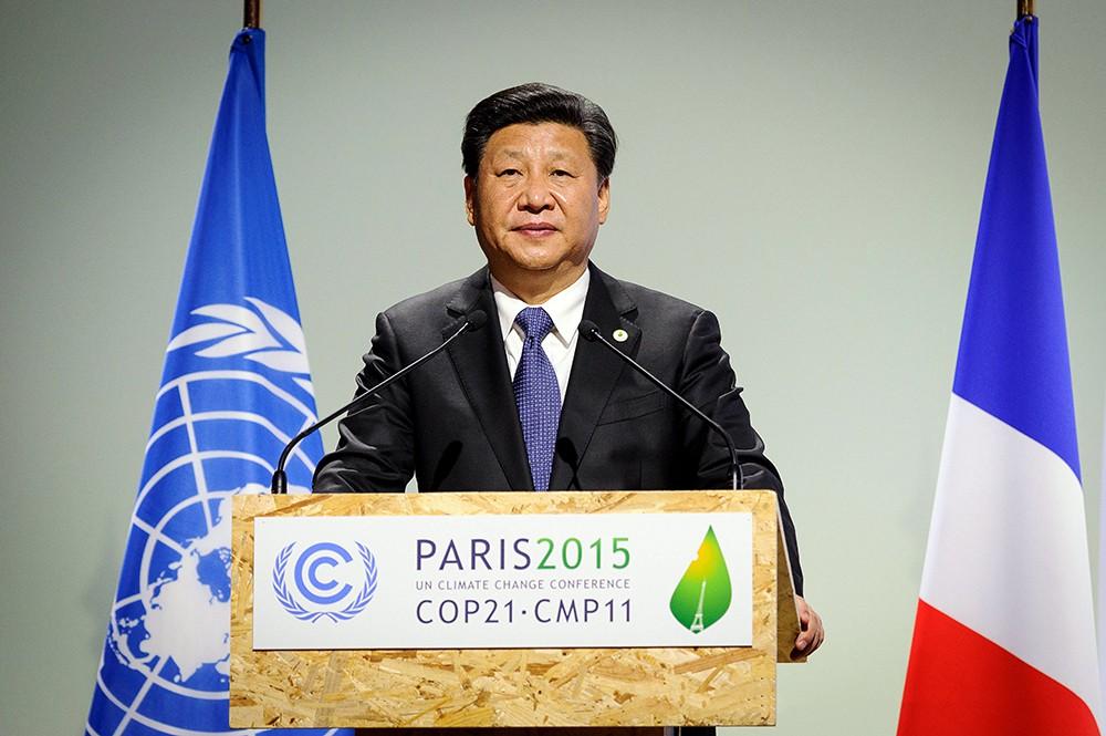 Председатель КНР Си Цзиньпин выступает на Климатический саммит в Париже