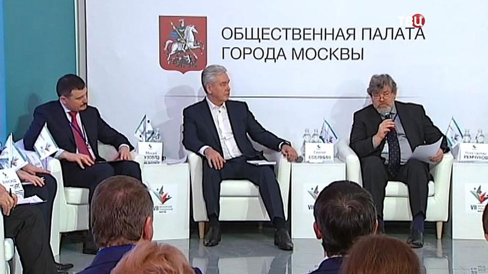 Сергей Собянин на заседании Общественной палаты