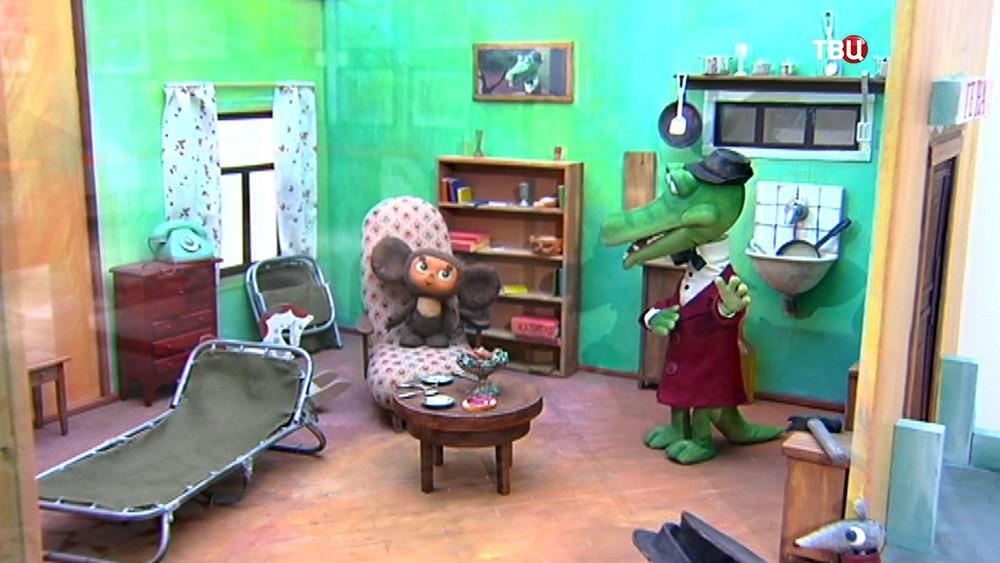 Экспонаты выставки советской анимации