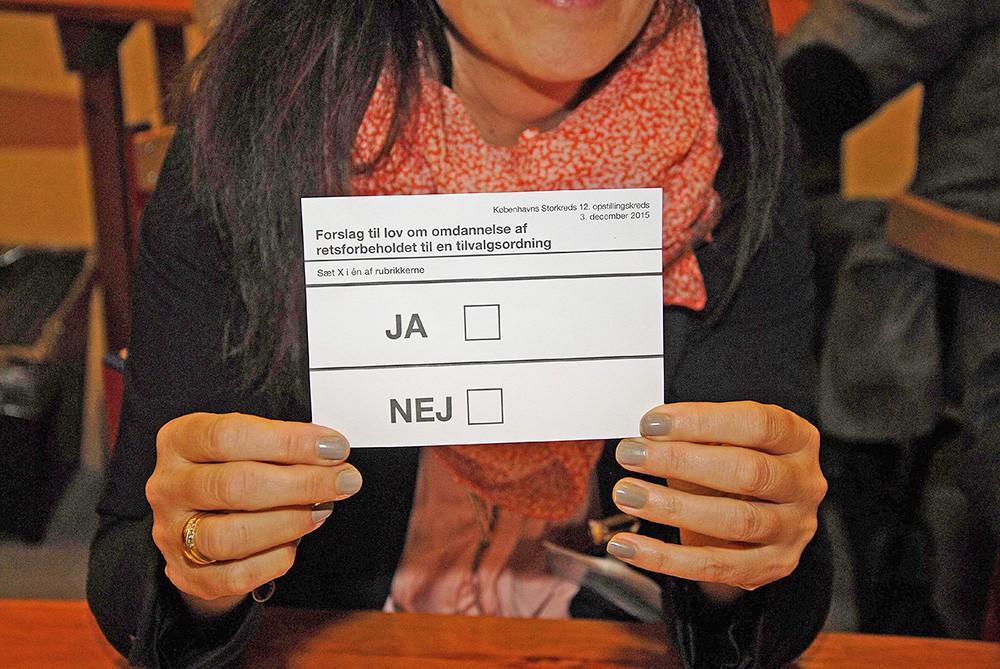 Голосование в Дании