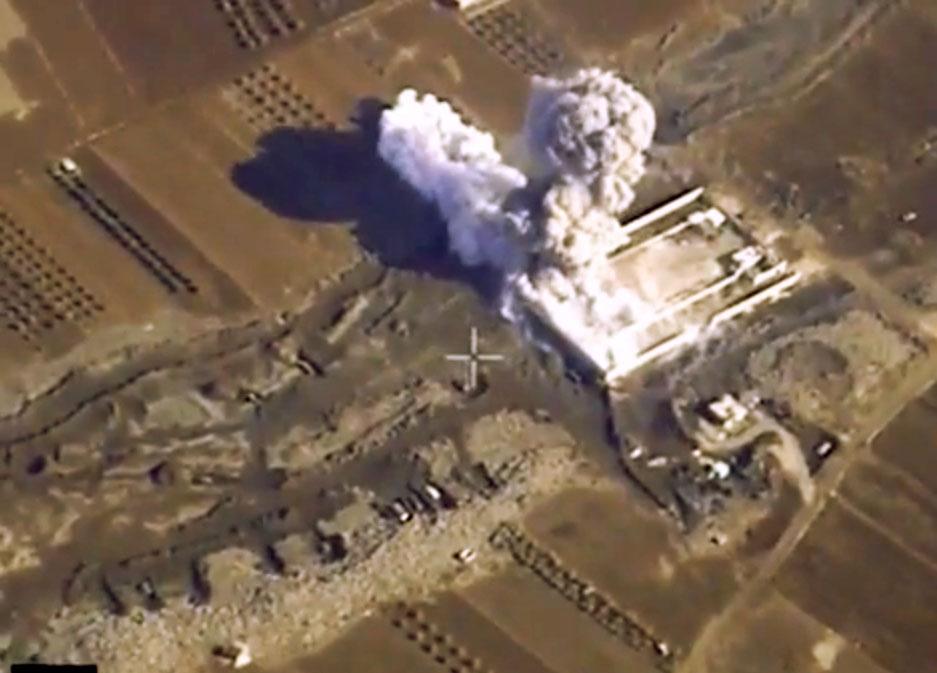 Авиаудар российских ВКС по позициям ИГ в Сирии