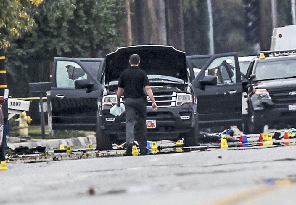 Место убийства Калифорнийского стрелка