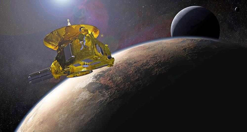 Космический зонд New Horizons на подлёте к Плутону