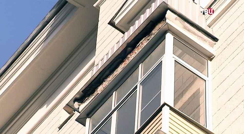 Обвалившийся балкон