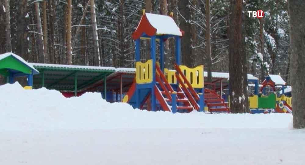 Игровая площадка в детском саду