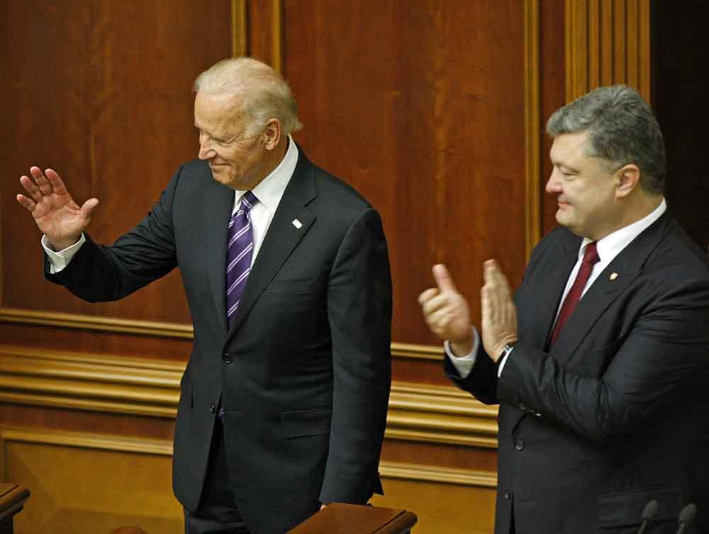 Вице-президент США Джо Байден и президент Украины Пётр Порошенко