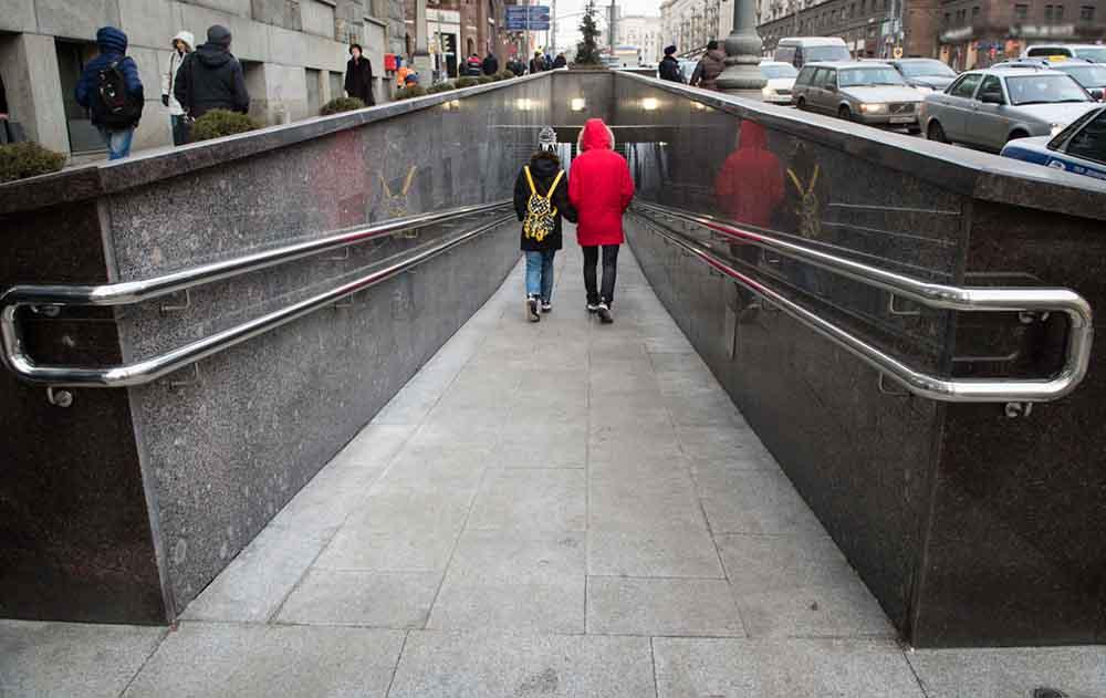 Осмотр выполненных работ по капитальному ремонту подземного пешеходного перехода