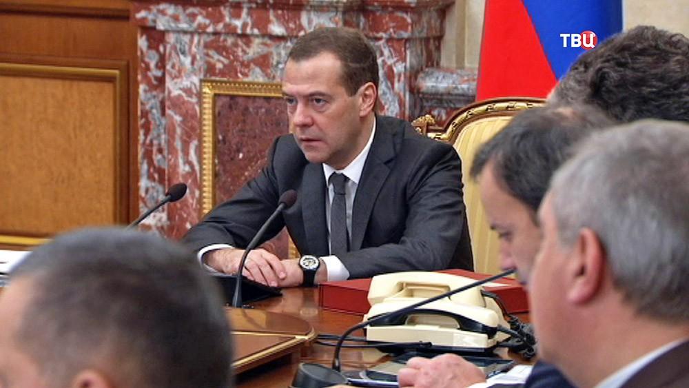 Дмитрий Медведев на заседании