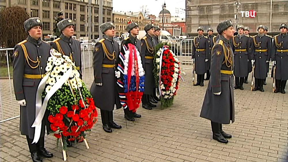 Церемония у часовни-памятника героям Плевны