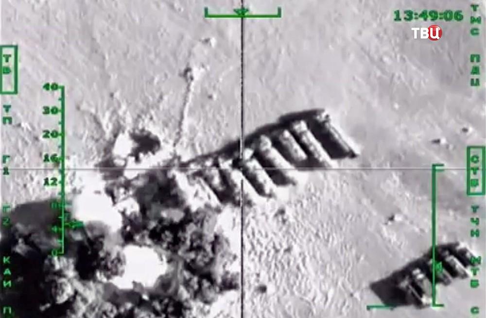 Уничтожение бензовозов в Сирии