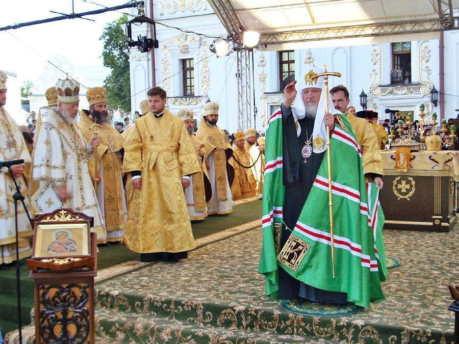 Патриарх Московский и всея Руси Кирилл в Киево-Печерской лавре