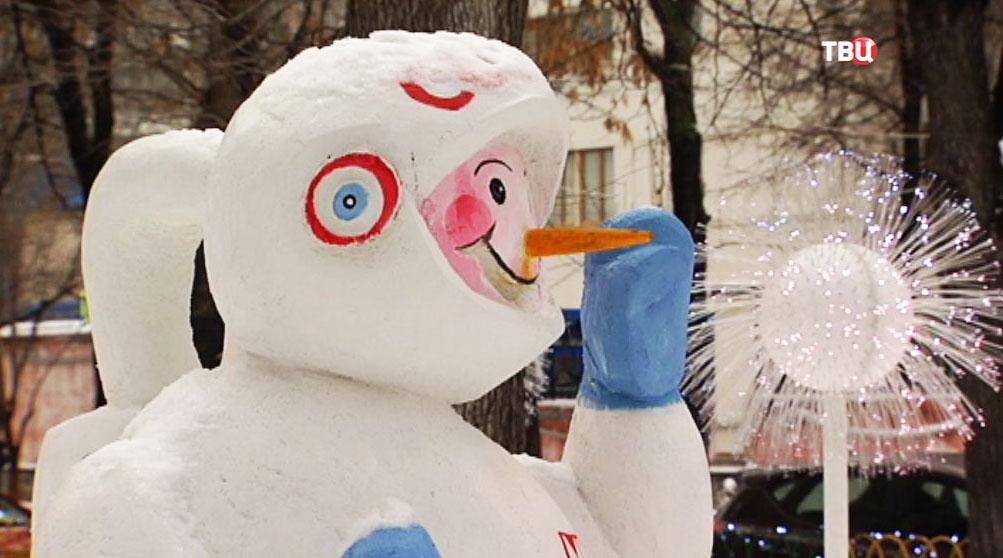 Новогодние оформление Морозовской больницы