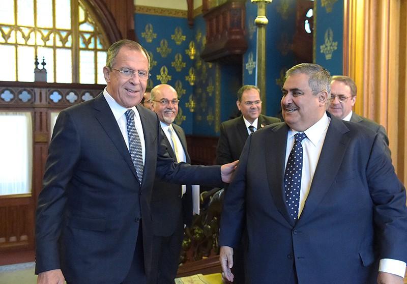 Главы МИД России и Бахрейна Сергей Лавров (слева) и Халед бен Ахмед Аль Халифа
