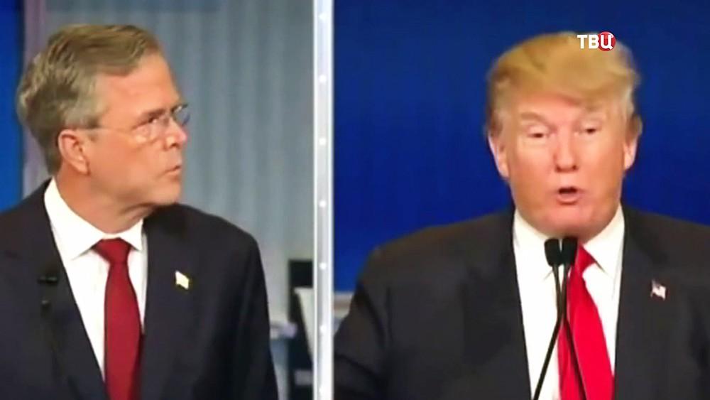 Джеб Буш и Дональд Трамп