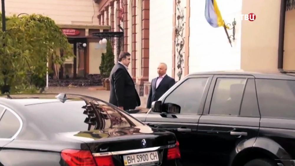 Михаил Саакашвили и бизнесмен Дмитрий Мазепин