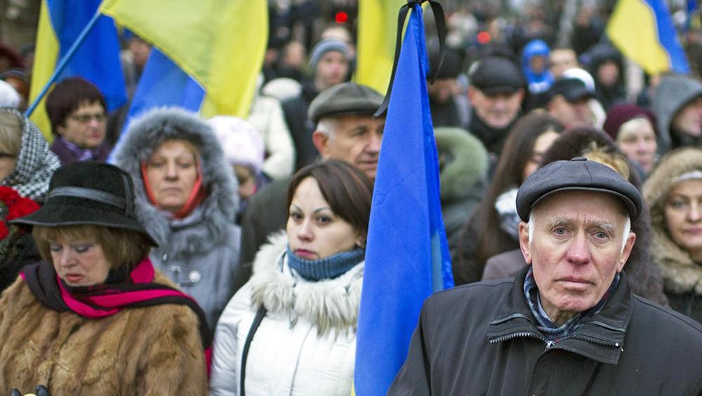 Жители Украины