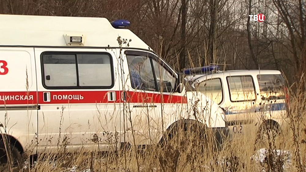 Машины скорой помощи и полиции
