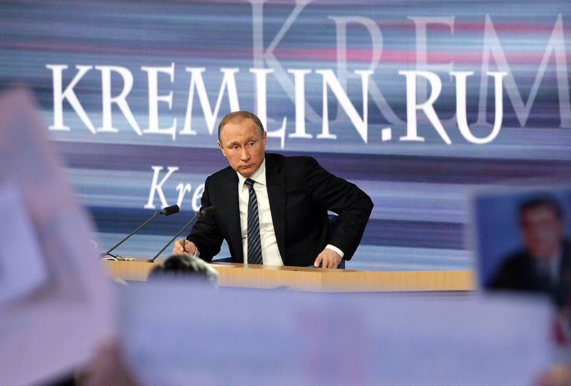Большая пресс-конференция президента России Владимира Путина