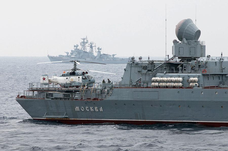 """Ракетный крейсер """"Москва"""" ВМФ России"""