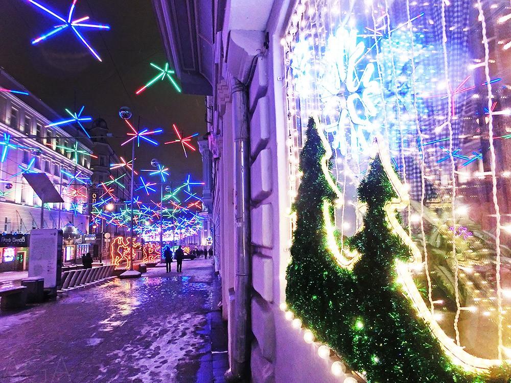 Новогодние оформление Москвы