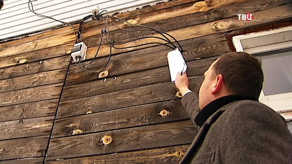 Незаконное подключение к электросетям