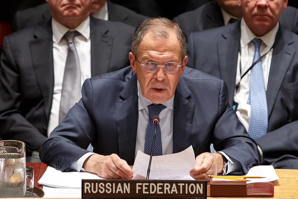 Глава МИД России Сергей Лавров на заседании Совета безопасности ООН