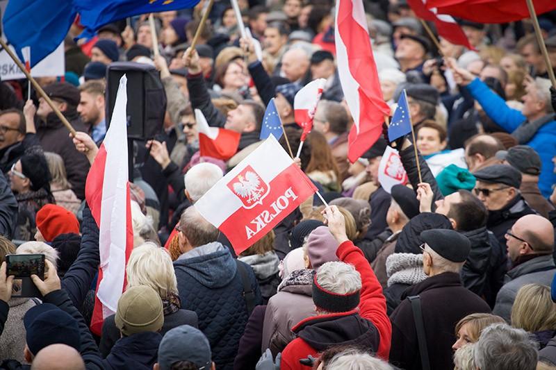 Митинг в Польше