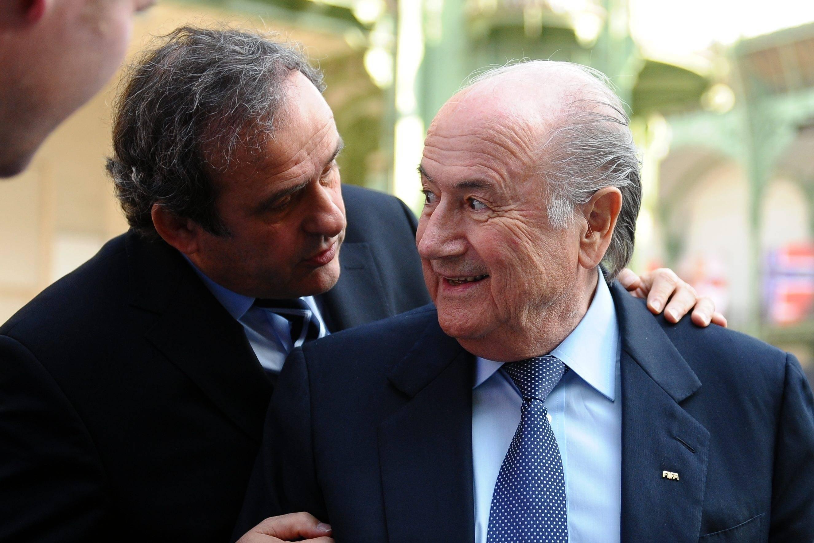 Главы UEFA и FIFA Мишель Платини и Йозеф Блаттер