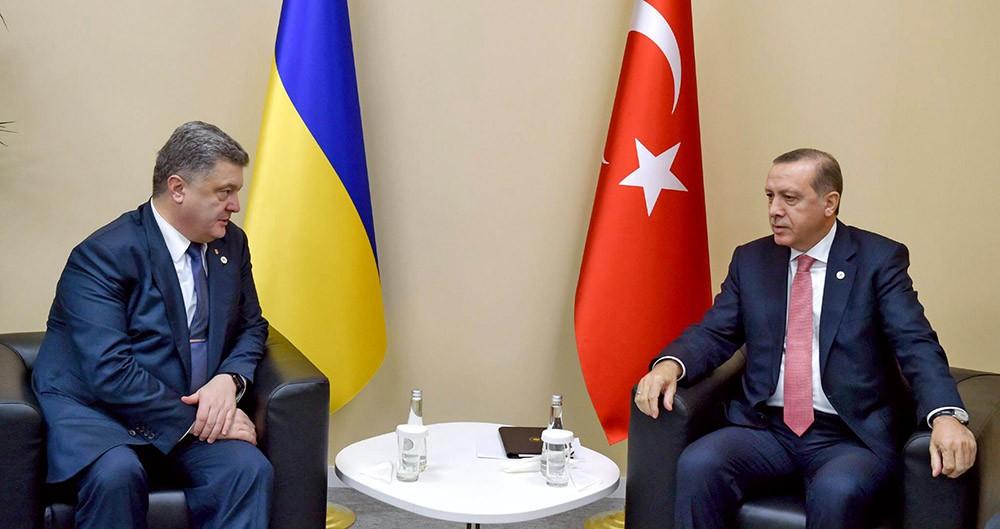 Президент Украины Пётр Порошенко и президент Турции Реджеп Тайип Эрдоган