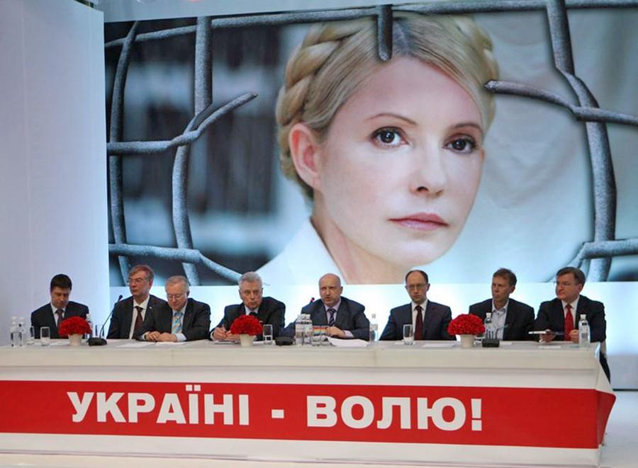Пресс-конеренция за освобождение Юлии Тимошенко