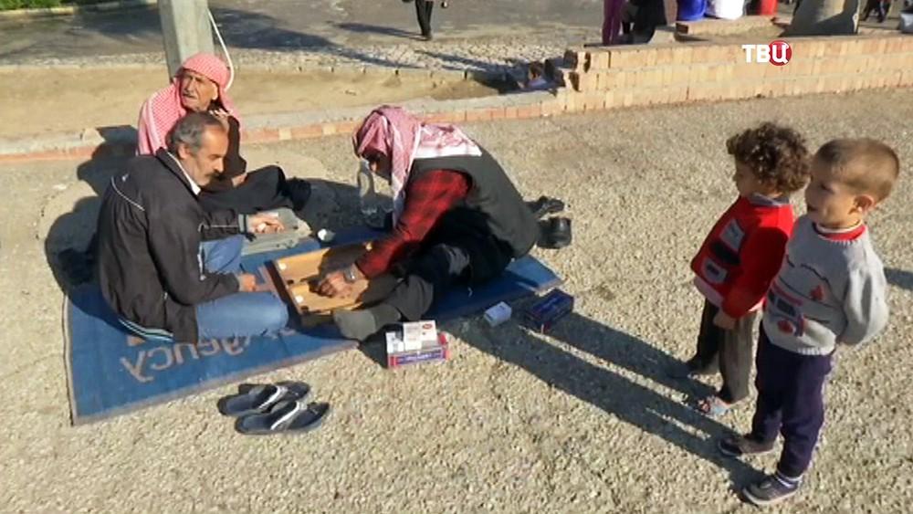 Лагерь для беженцев в Сирии