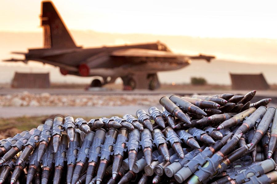 Истребитель авиагруппировки ВКС России в Сирии