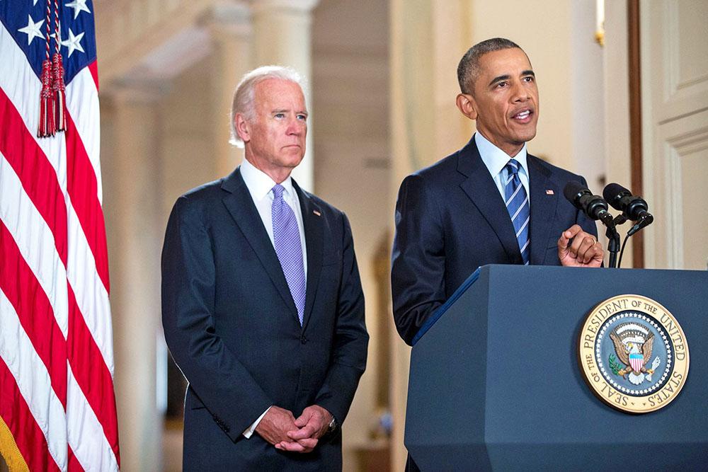 Вице-президент США Джо Байден и президент США Барак Обама