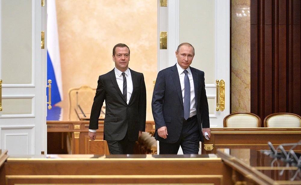 Дмитрий Медведев и Владимр Путин