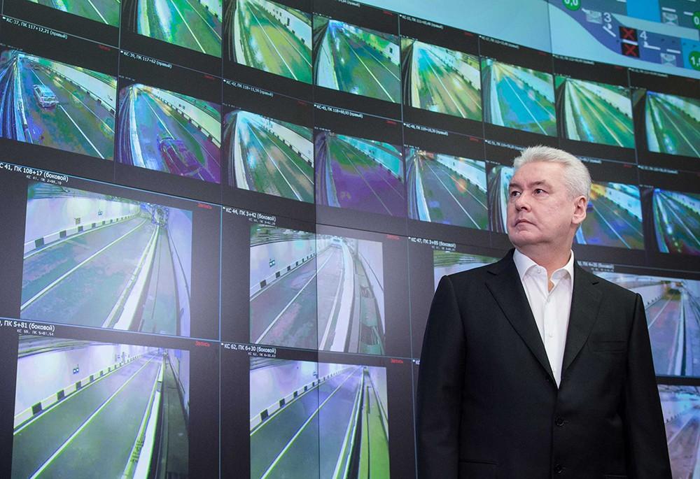 Мэр Москвы Сергей Собянин во время открытия Алабяно-Балтийского тоннеля
