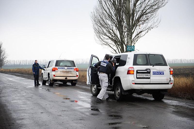 Наблюдатели миссии ОБСЕ в Донецкой области