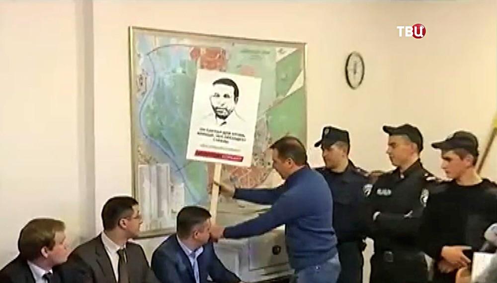 Олег Ляшко митингует за освобождение Геннадия Корбана