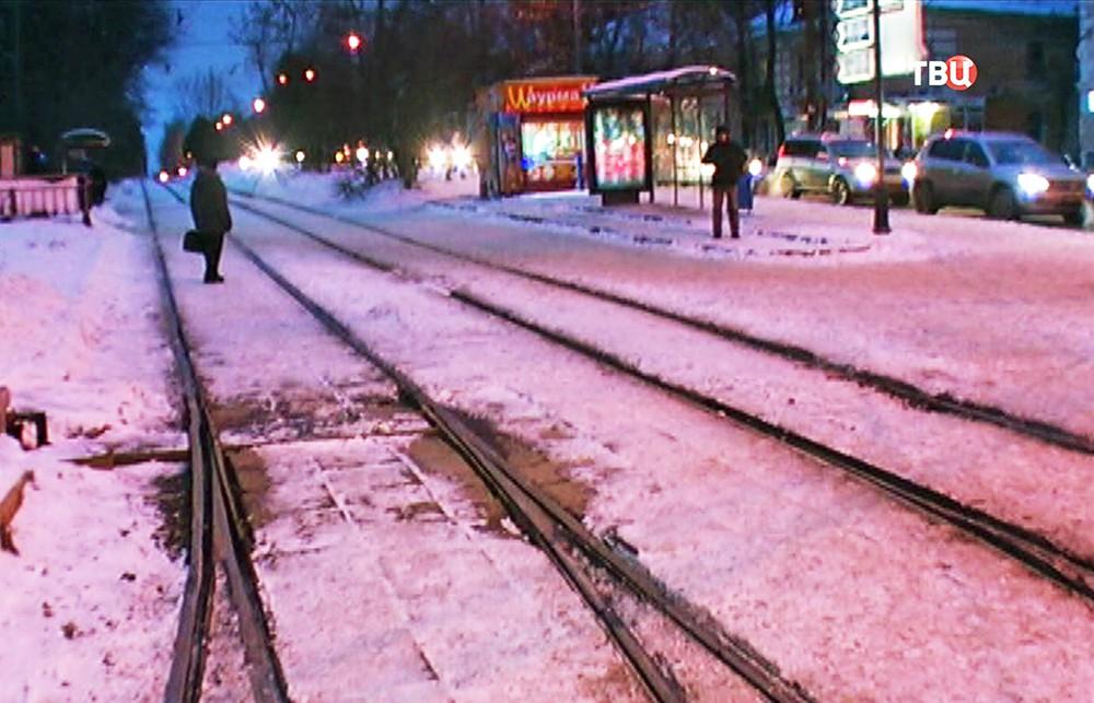 Трамвайные пути в Нижнем Новгороде