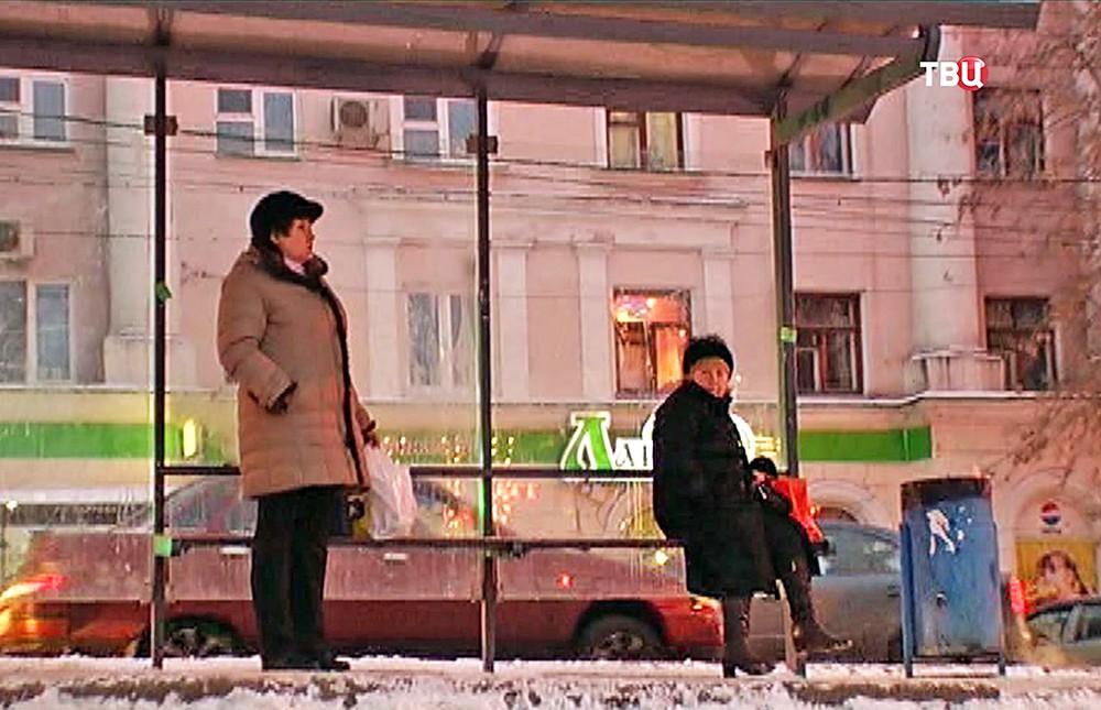 Остановкка общественного транспорта в Нижнем Новгороде